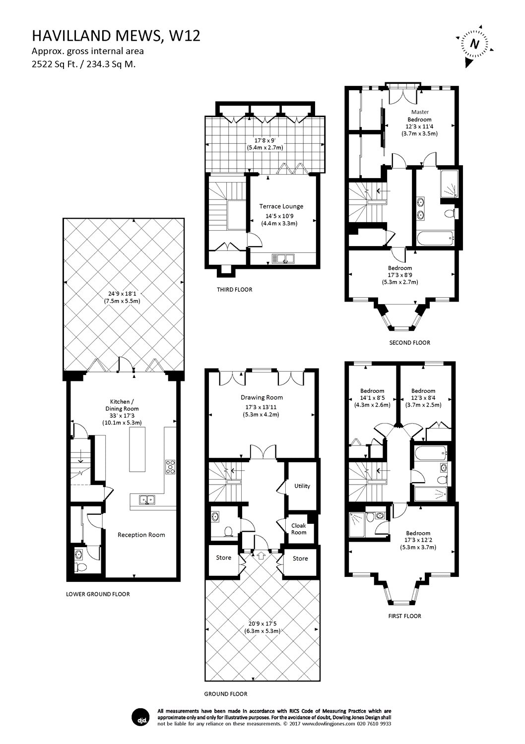 5 bedroom property for sale in havilland mews london w12 for 15 bruyeres mews floor plans