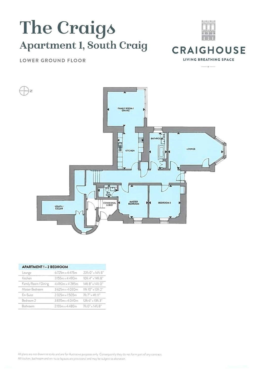 Floorplans for C03 - 2 Bed Conversion Apartment, Craighouse, Craighouse Road, EH10