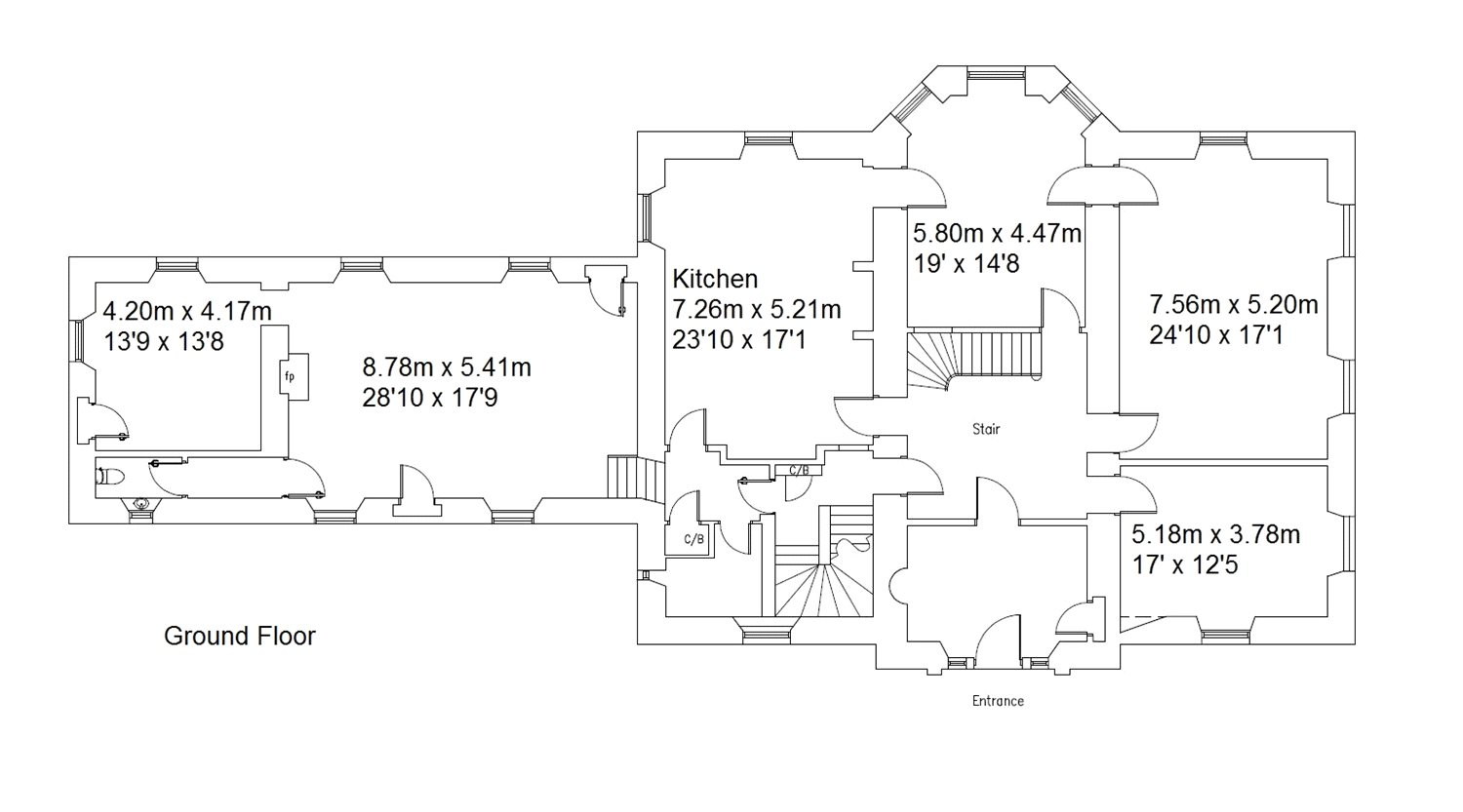 Floorplans for Bonjedward House, Jedburgh, Scottish Borders, TD8