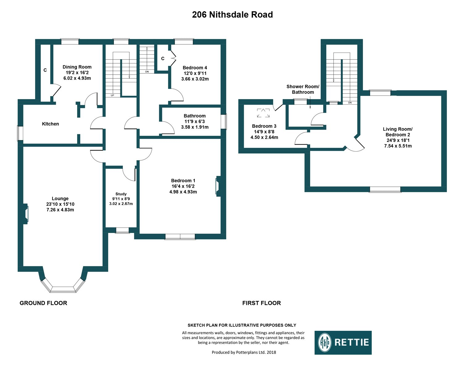Floorplans for Nithsdale Road, Pollokshields, Glasgow, G41
