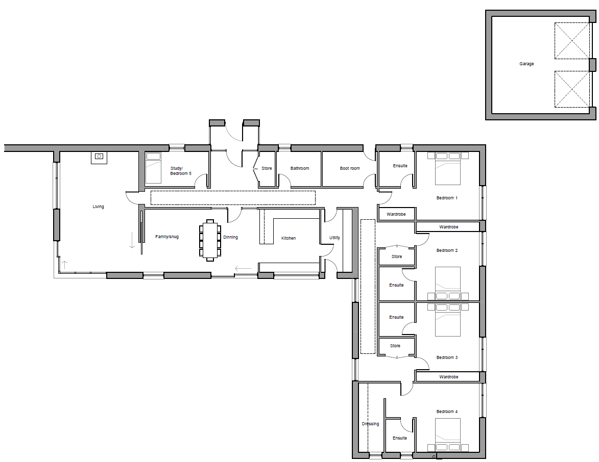 Floorplans for Plot 1, Fasque House Estate, Fettercairn, Laurencekirk, AB30