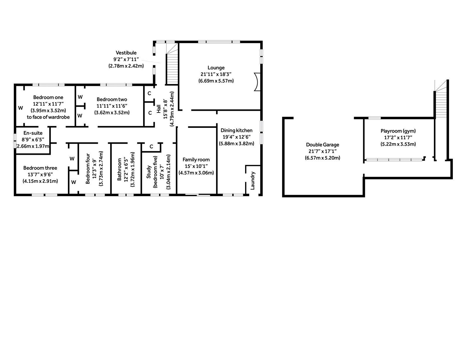 Floorplans for Cromalt Crescent, Bearsden, G61