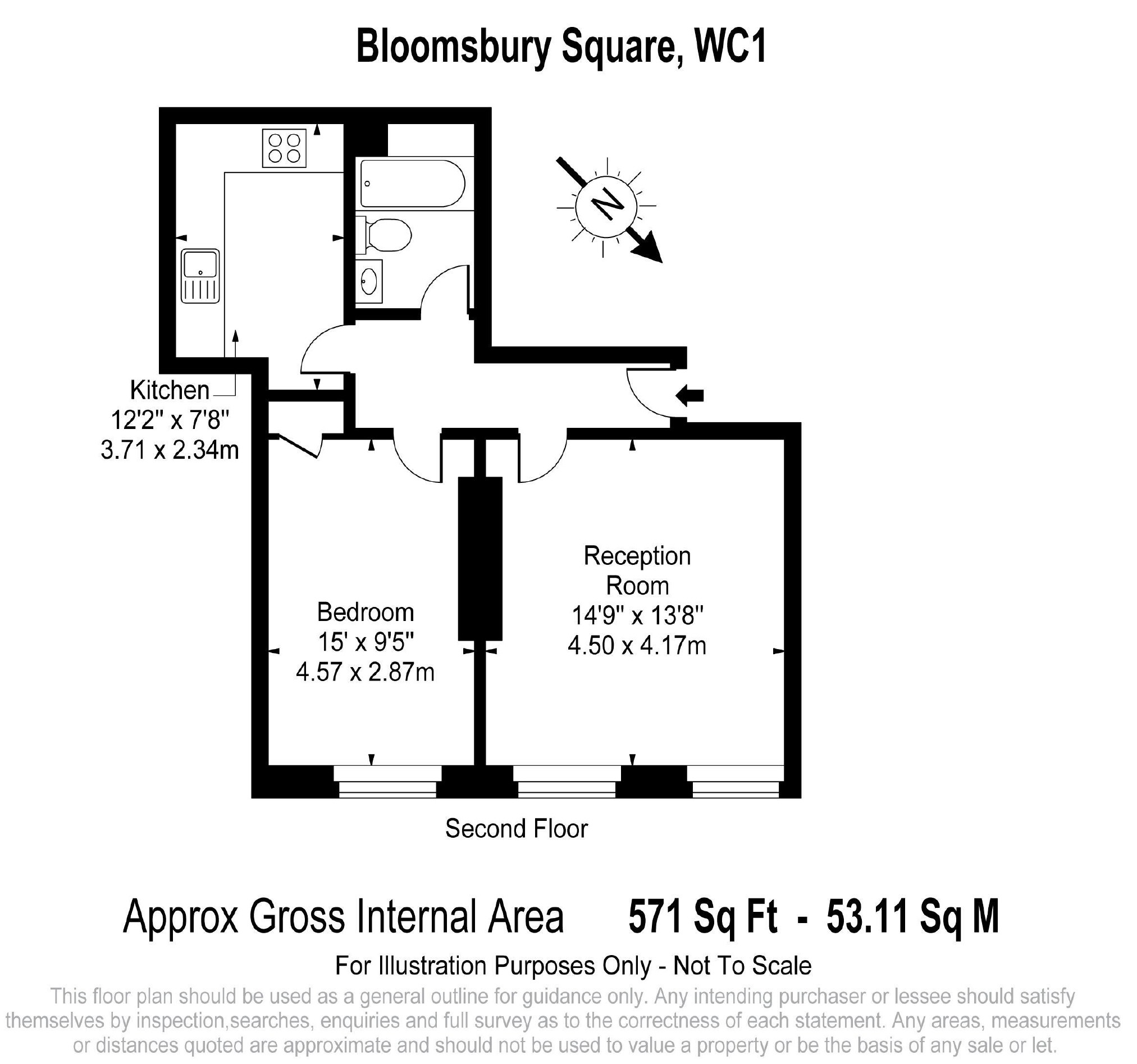 Bloomsbury Square, London, WC1A floorplan