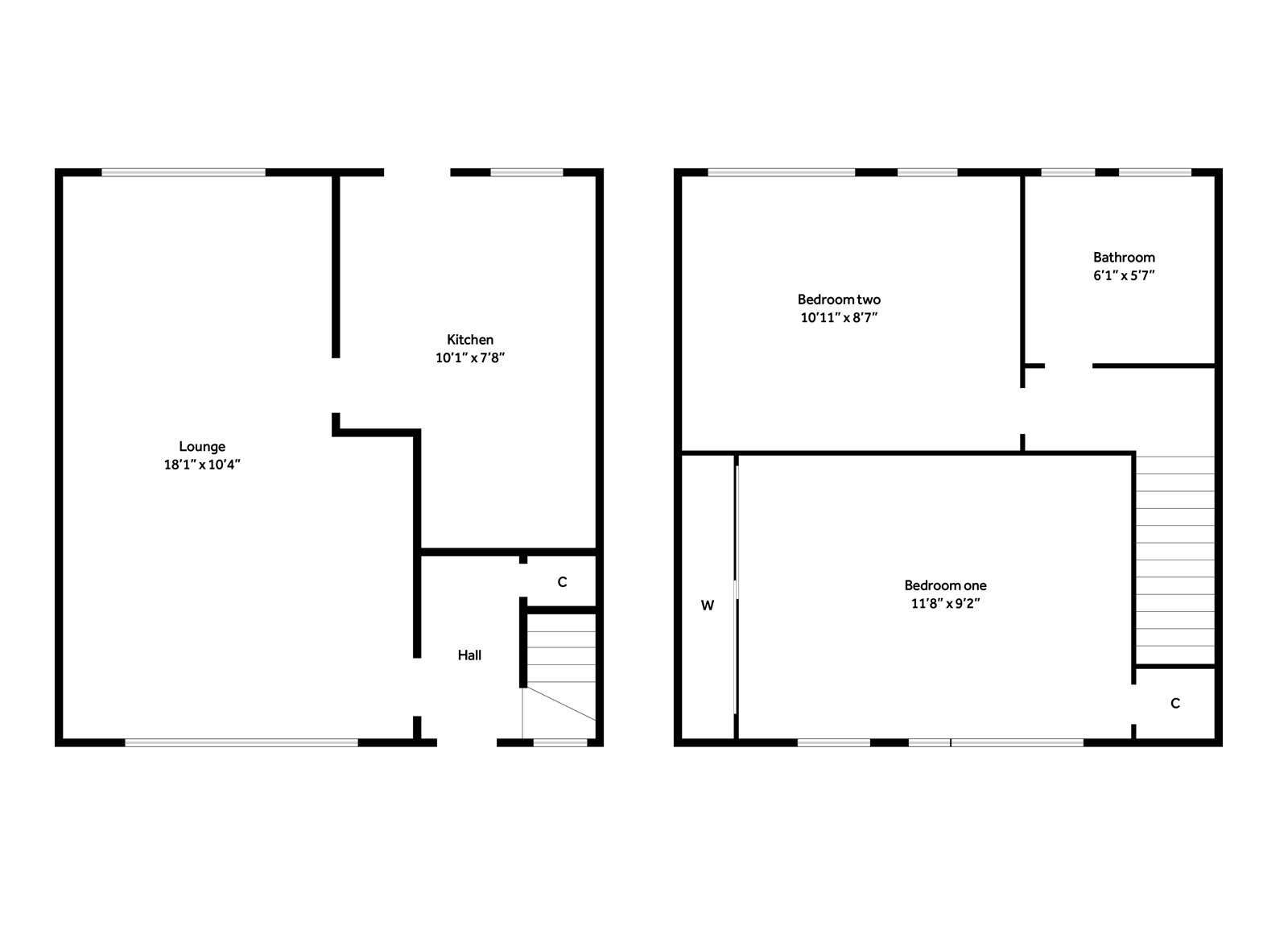 Floorplans for Spey Road, Bearsden, G61