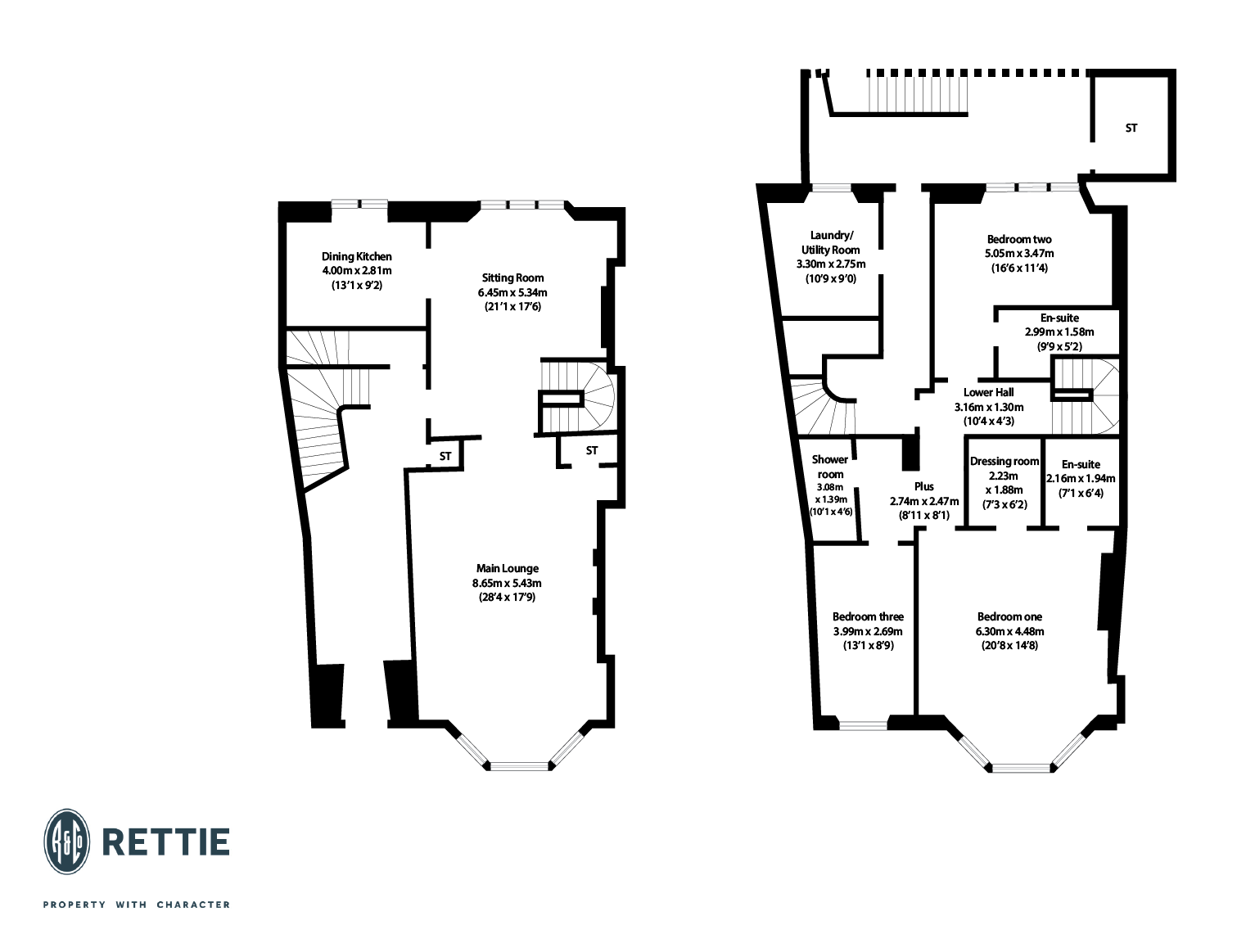 Floorplans for Athole Gardens, Dowanhill, Glasgow, G12
