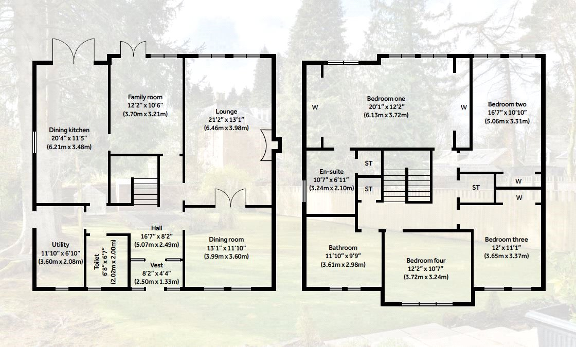 Floorplans for Gartconnell Drive, Bearsden, G61