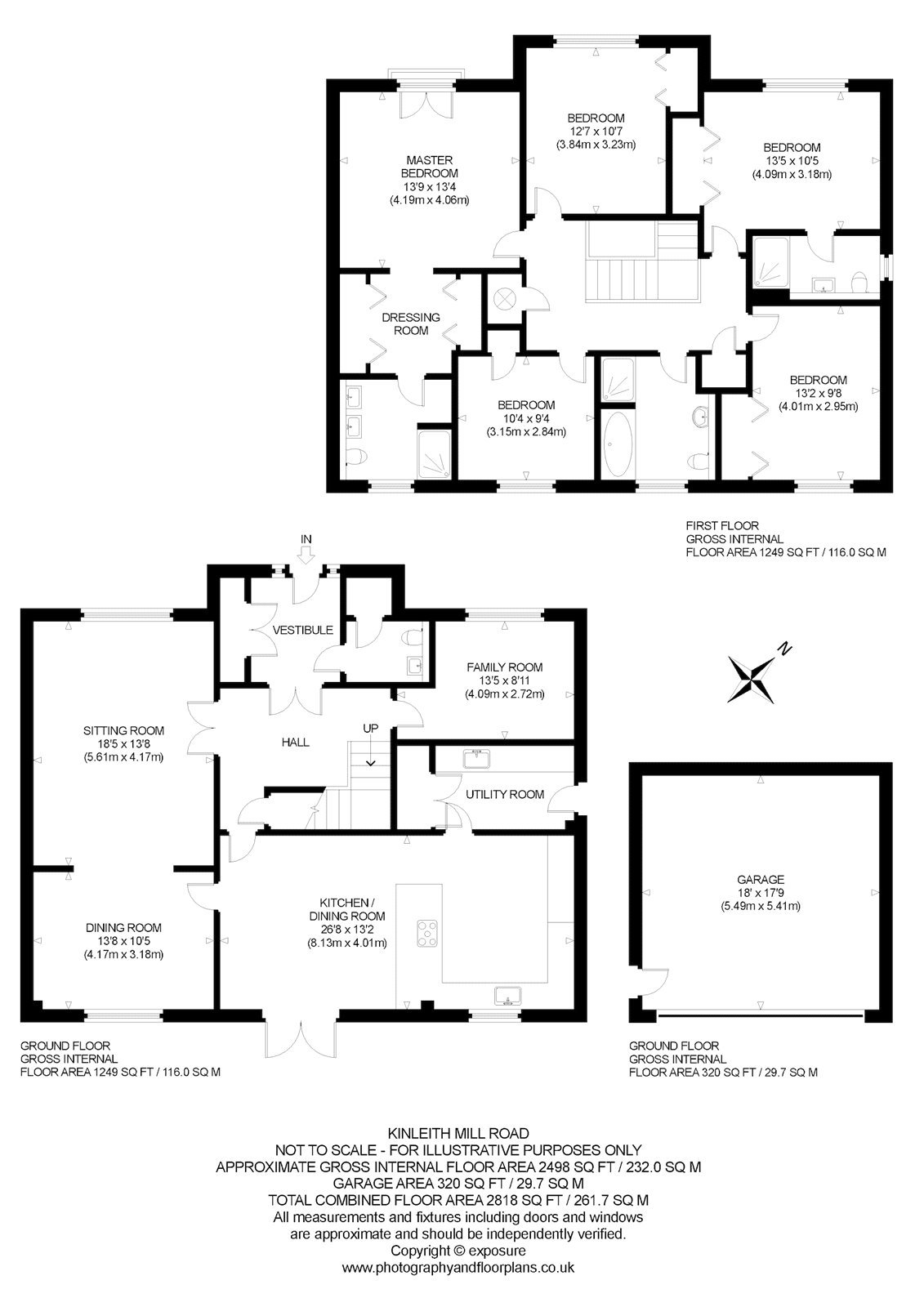 Floorplans for Kinleith Mill Road, Currie, Midlothian, EH14