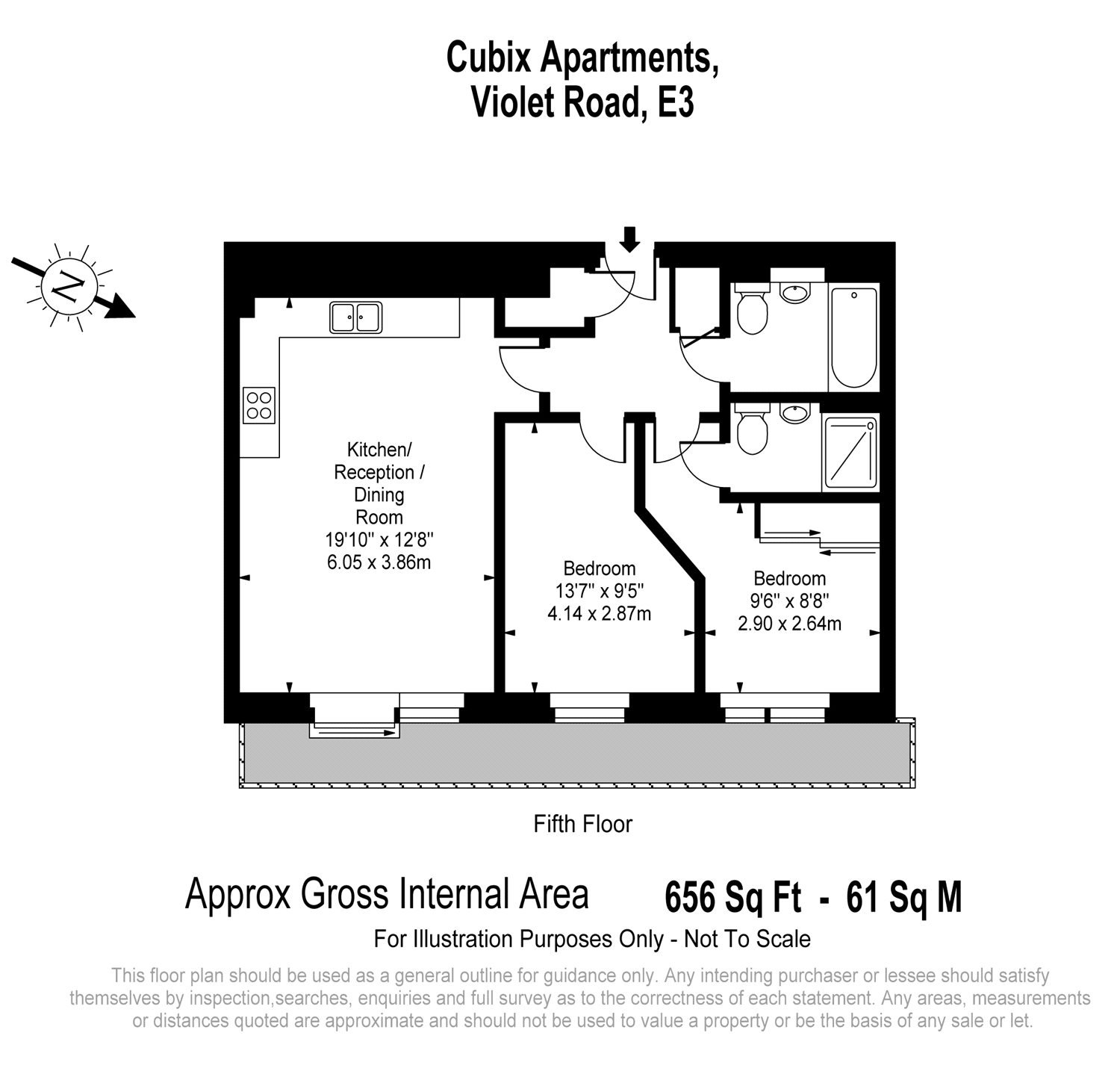 Cubix Apartments, 42 Violet Road, London, E3 floorplan
