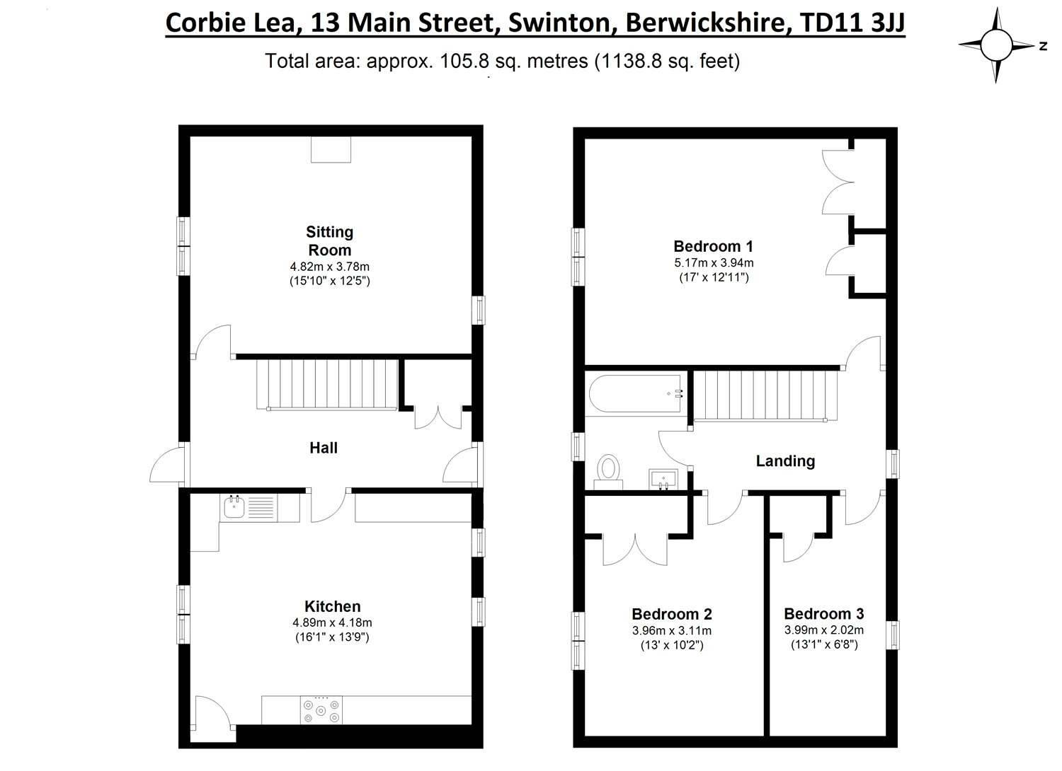 Floorplans for Main Street, Swinton, Duns, TD11