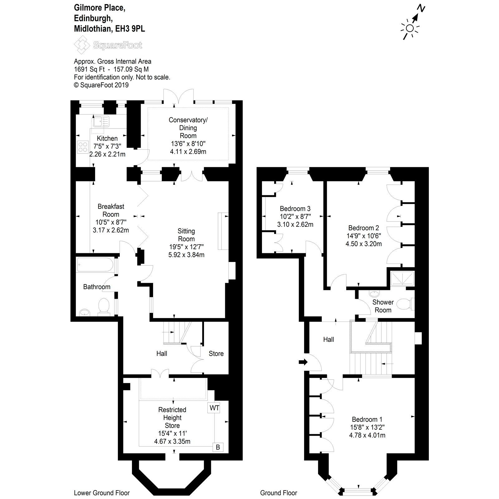 Floorplans for Gilmore Place, Edinburgh, Midlothian, EH3