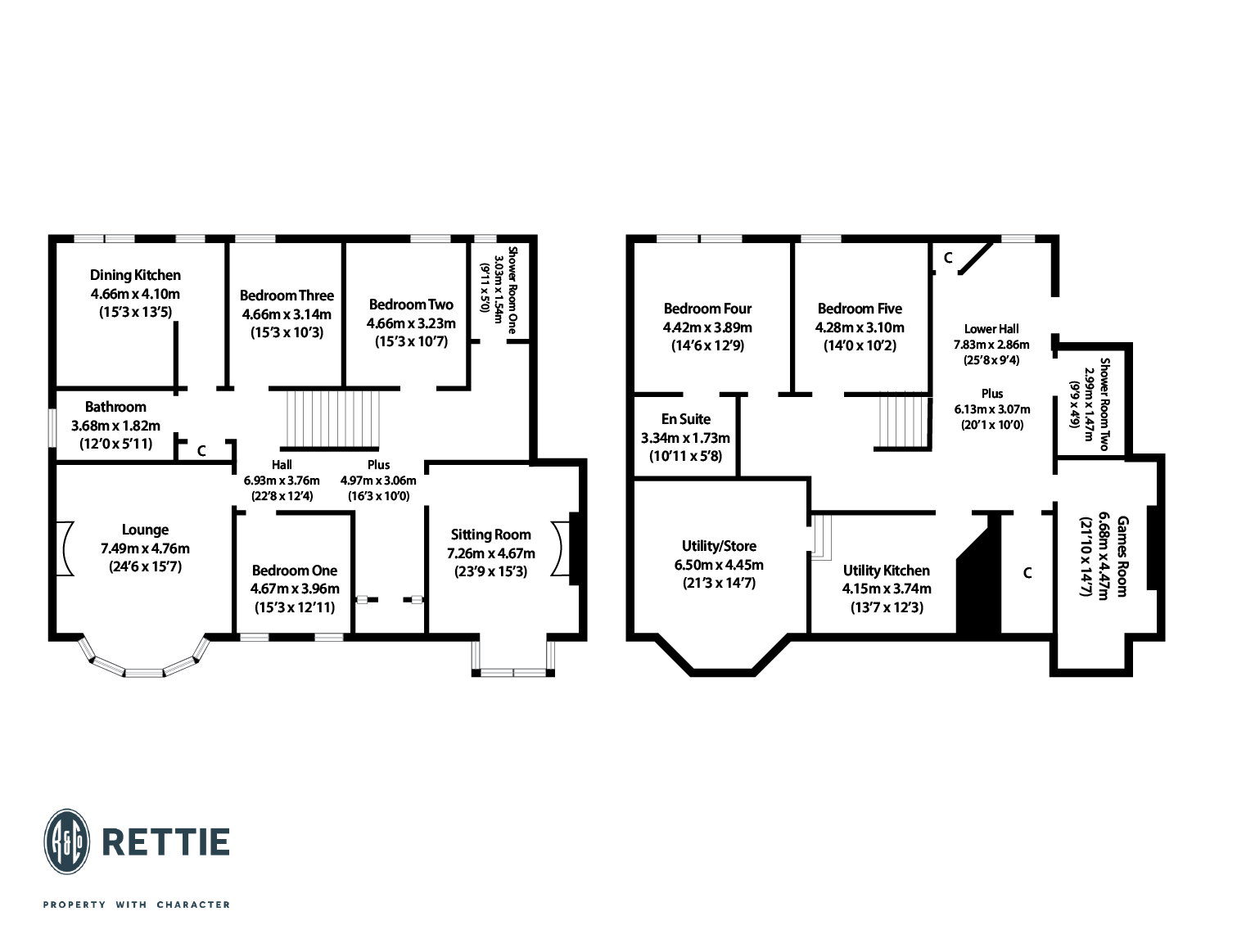 Floorplans for Saltoun Street, Dowanhill, Glasgow, G12