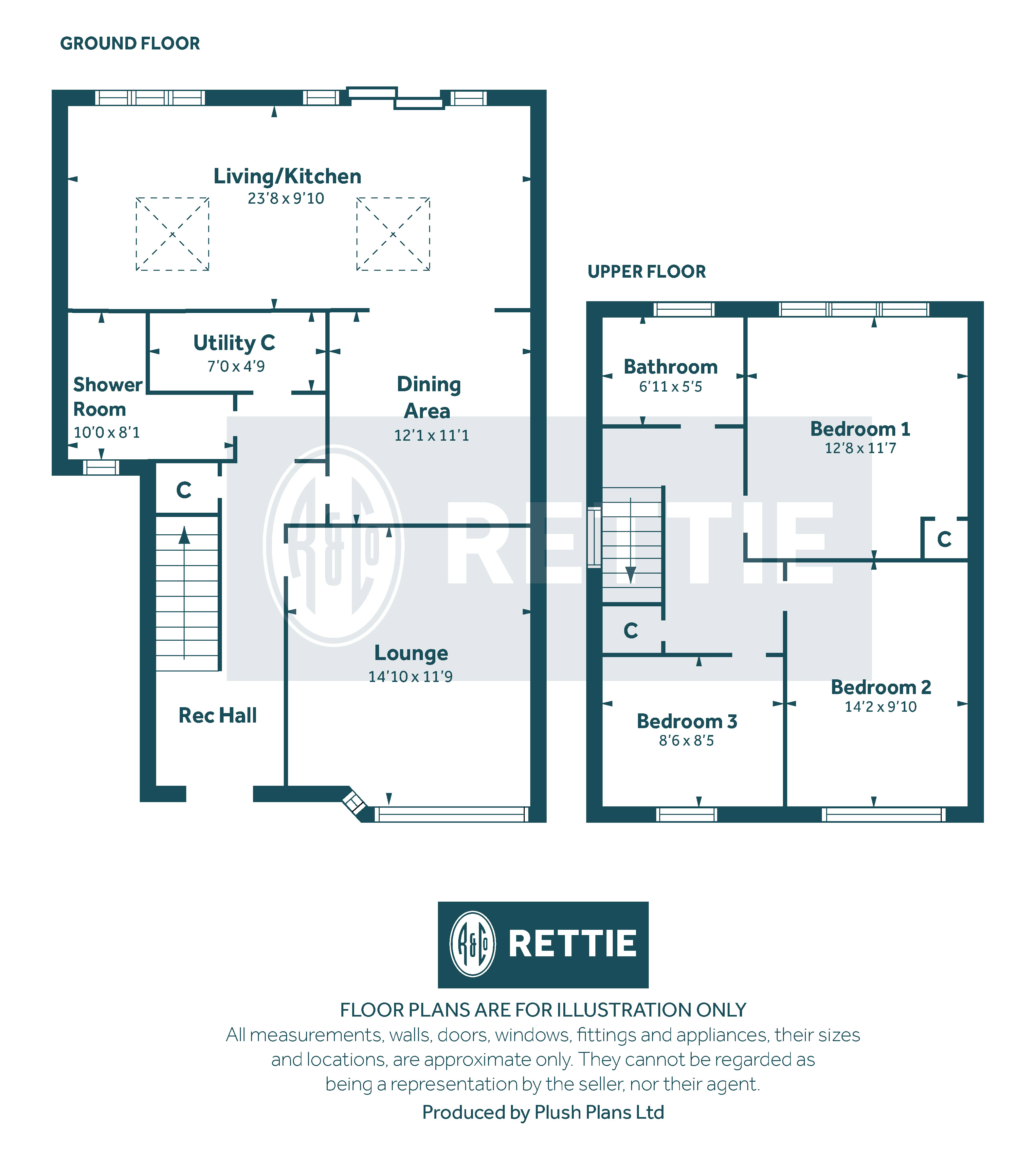 Floorplans for Lochinver Drive, Cathcart, Glasgow, G44