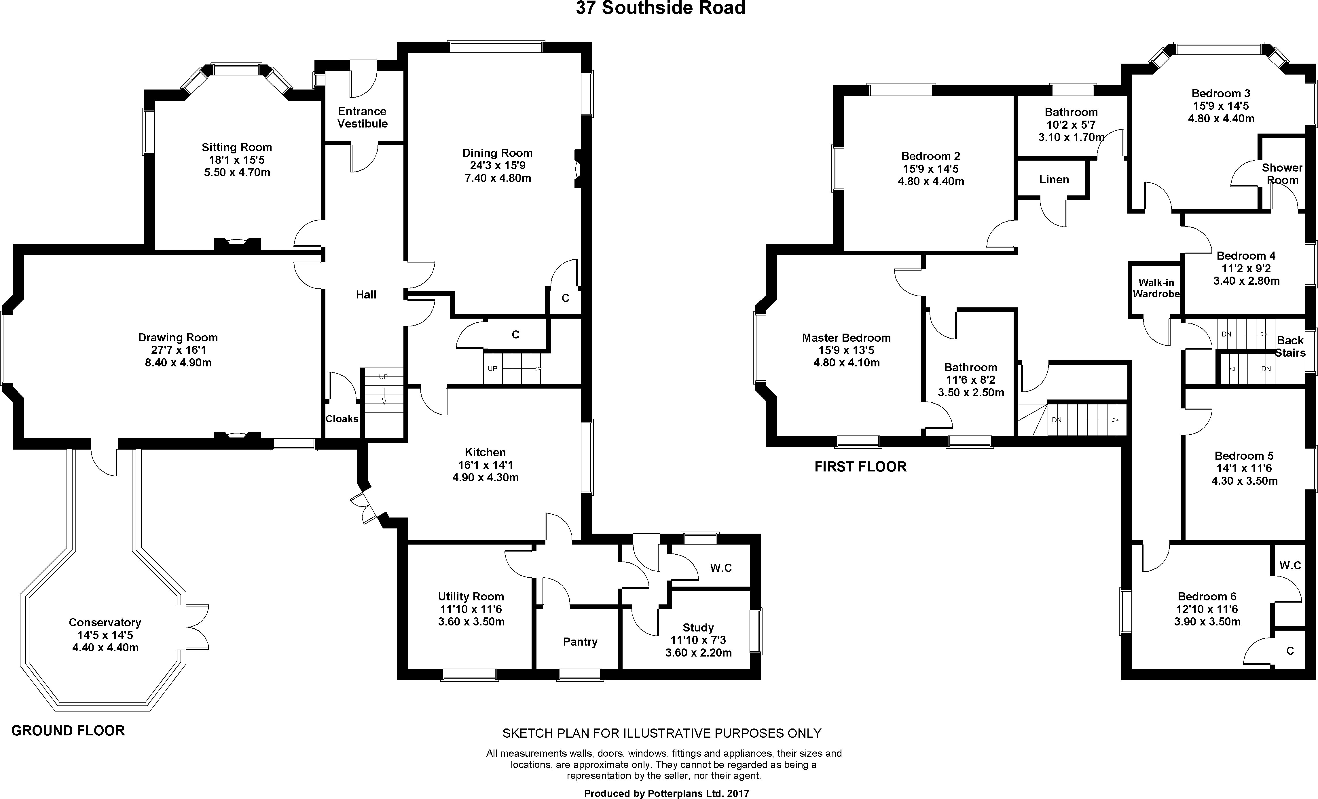 Floorplans for Southside Road, Inverness, Inverness-shire, IV2