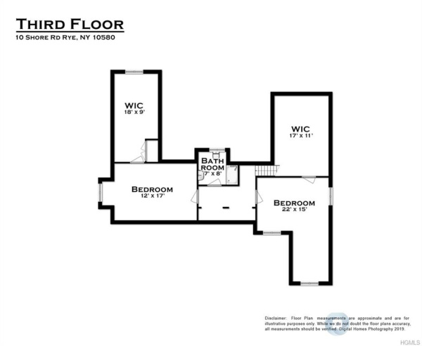Floorplan for Shore Road, Rye, New York, 10580