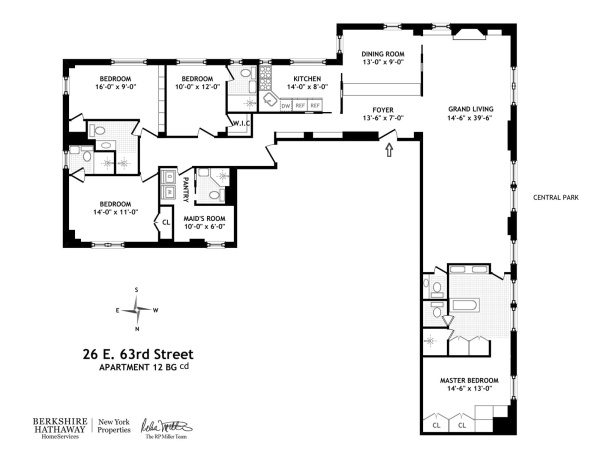 Floorplan for East 63rd Street, New York, New York, 10065