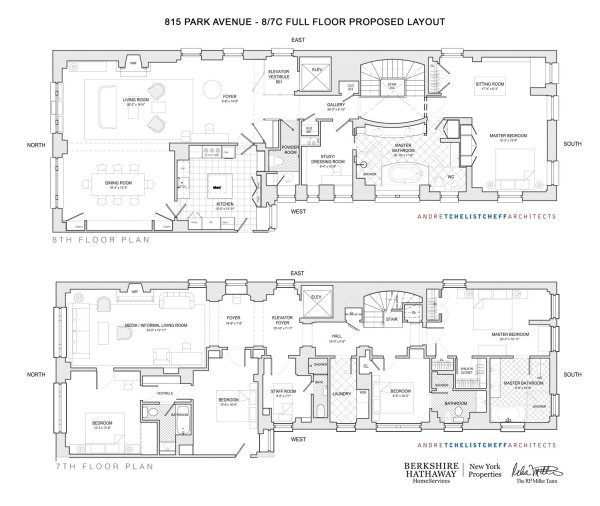 Floorplan for Park Avenue, New York, New York, 10021