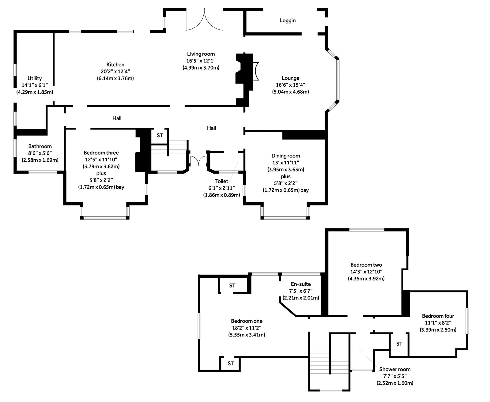 Floorplans for Colquhoun Drive, Bearsden, G61