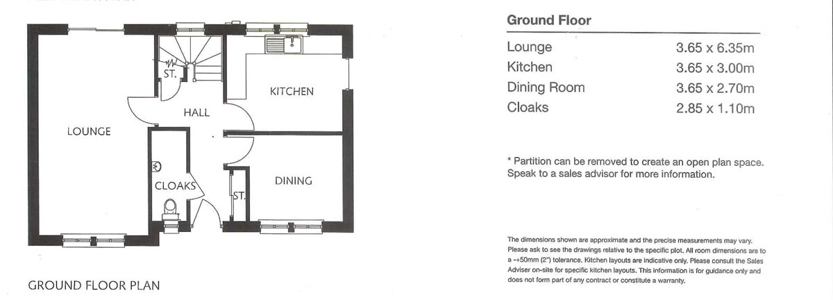 Floorplans for Plot 22, 6 Jubilee Drive, Kelso, TD5