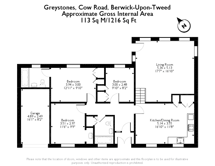 Floorplans for Greystones, Cow Road, Spittal, TD15