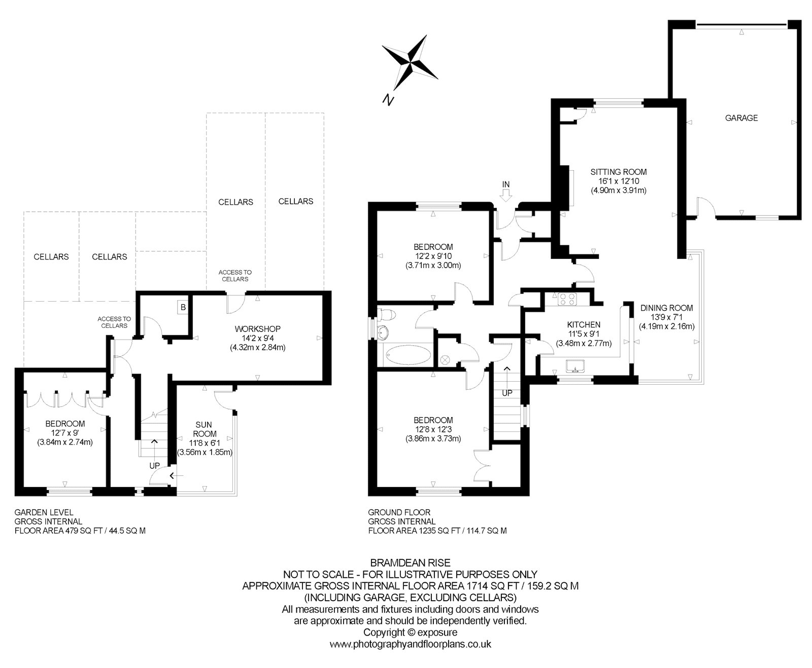 Floorplans for Bramdean Rise, Edinburgh, Midlothian, EH10