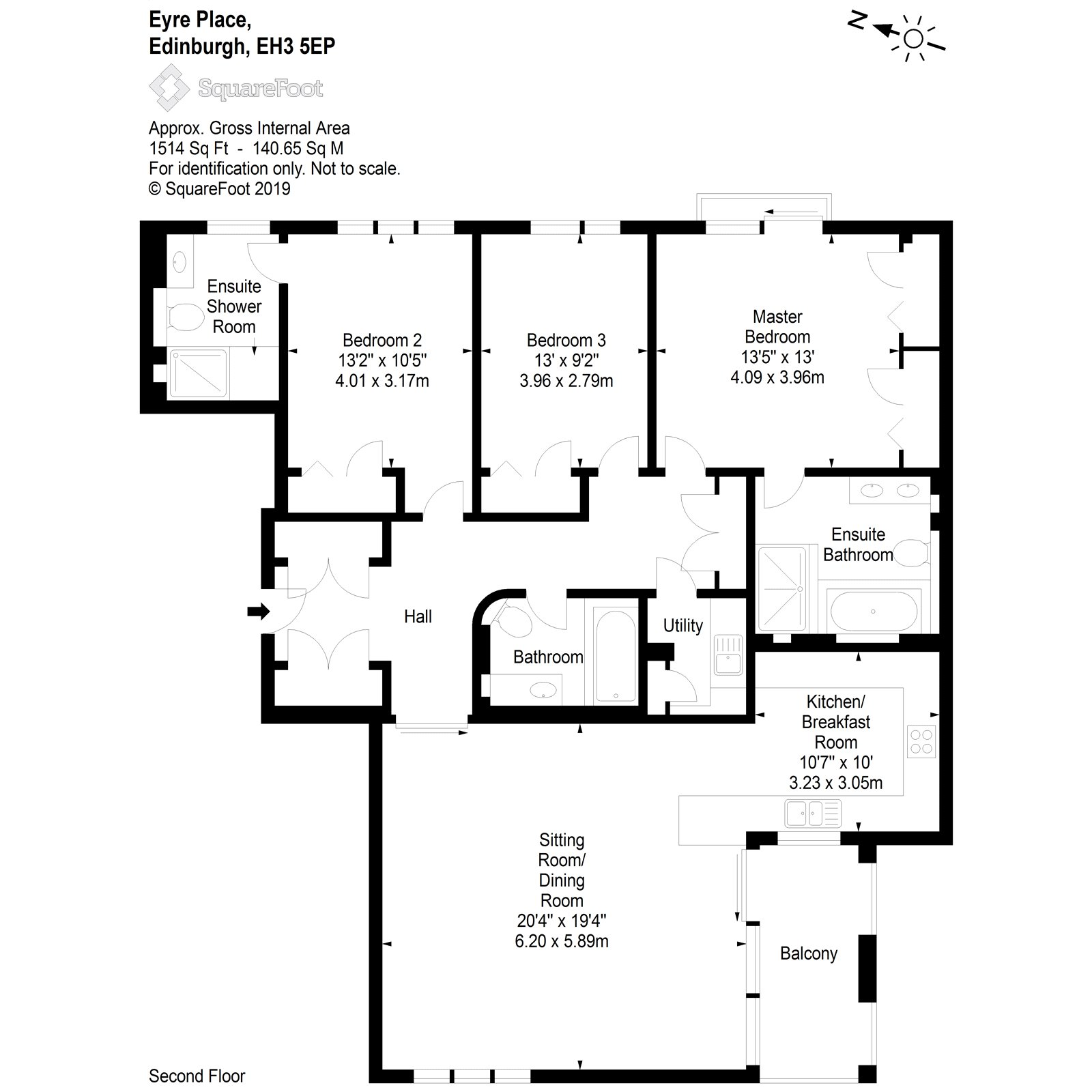 Floorplans for Eyre Place, Edinburgh, EH3