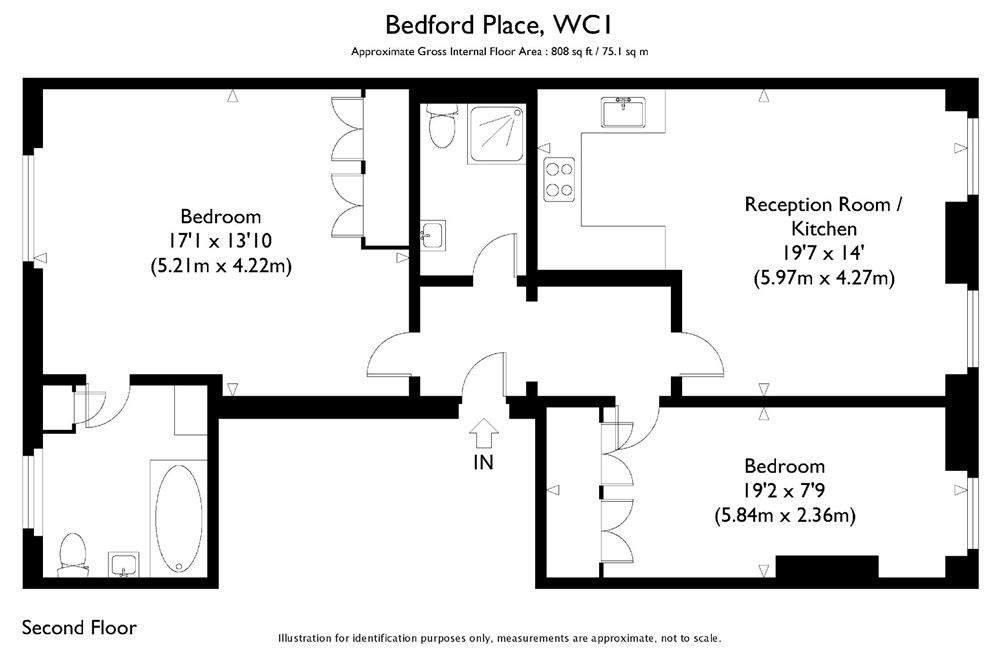 Bedford Place, Bloomsbury, London, WC1B floorplan