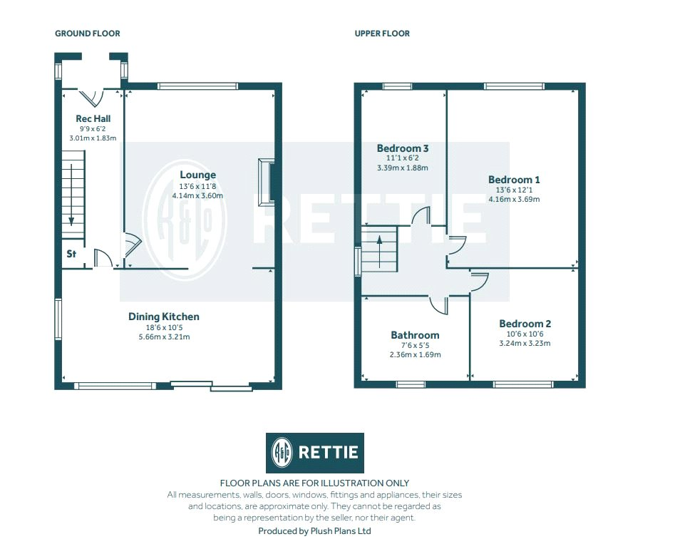 Floorplans for Whitton Drive, Giffnock, Glasgow, G46