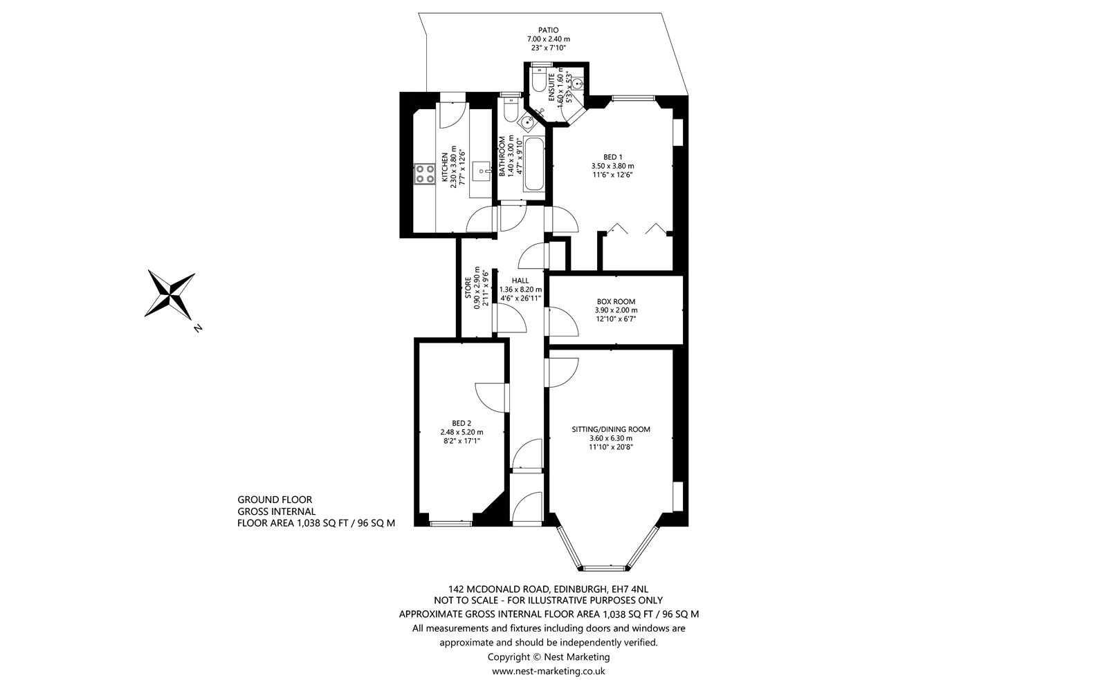 Floorplans for McDonald Road, Edinburgh, Midlothian, EH7