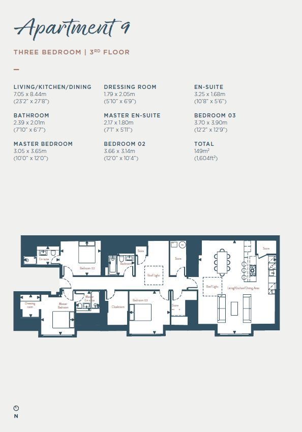 Floorplans for Apartment 9, South Learmonth Gardens, Edinburgh, EH4