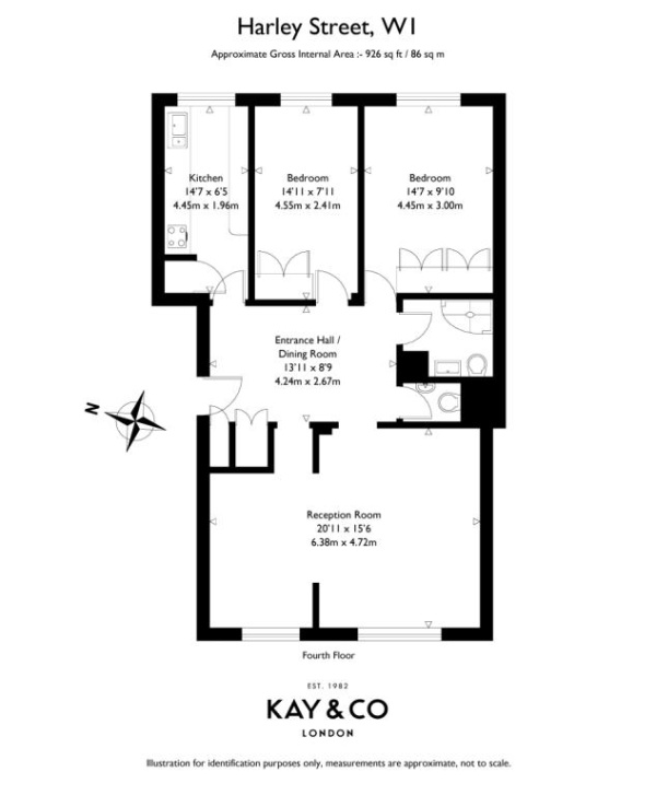 Floorplan for Harley Street, Marylebone, London, W1G