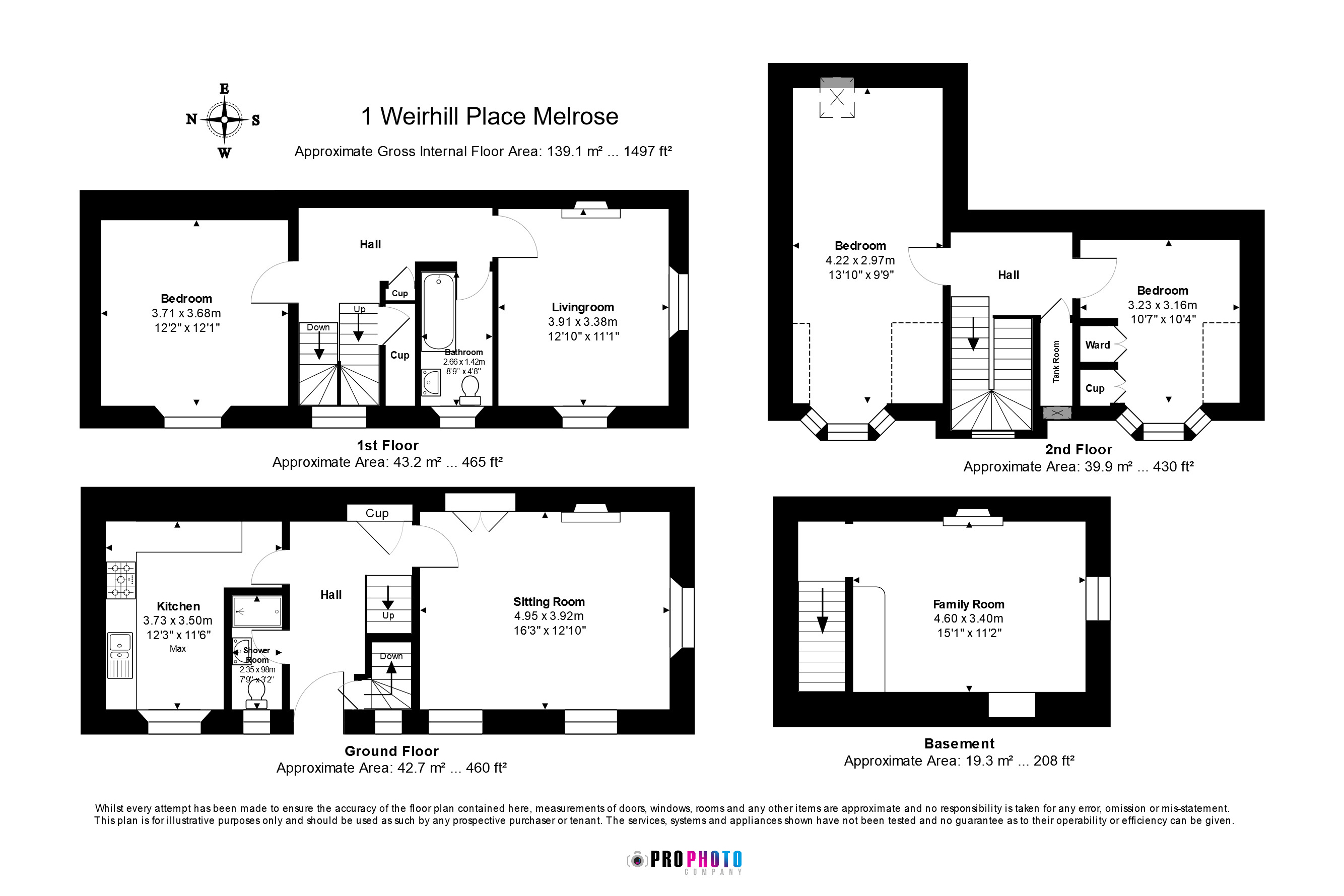Floorplans for Weirhill Place, Melrose, Roxburghshire, TD6