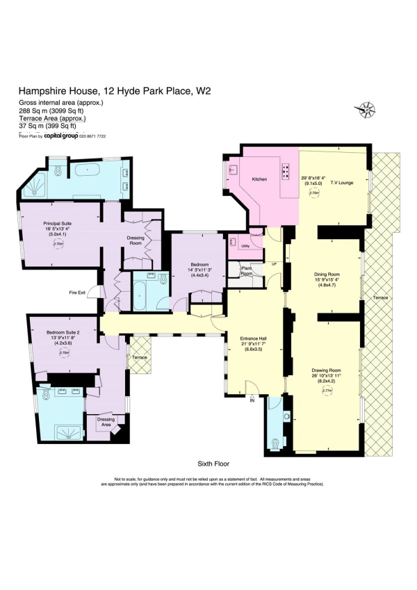 Floorplan for Hyde Park Place, Hyde Park, London, W2