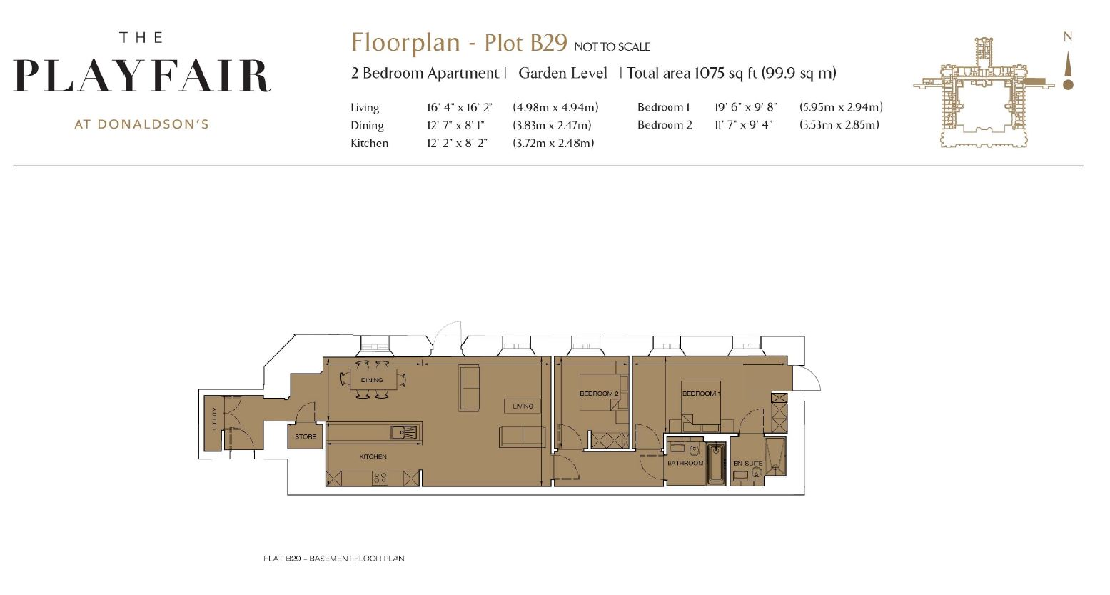 Floorplans for B29 - Donaldson's, West Coates, Edinburgh, EH12