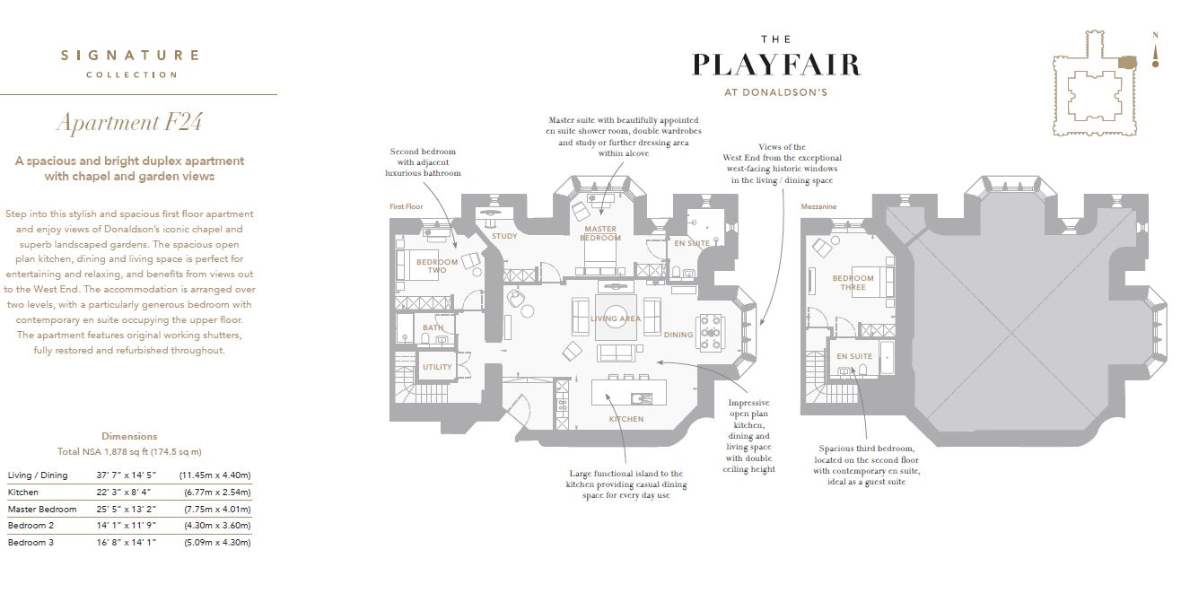 Floorplans for F24 - Donaldson's, West Coates, Edinburgh, EH12