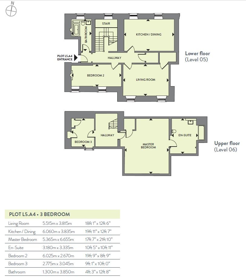 Floorplans for L5 A4, New Craig, Craighouse, Craighouse Road, Edinburgh, EH10