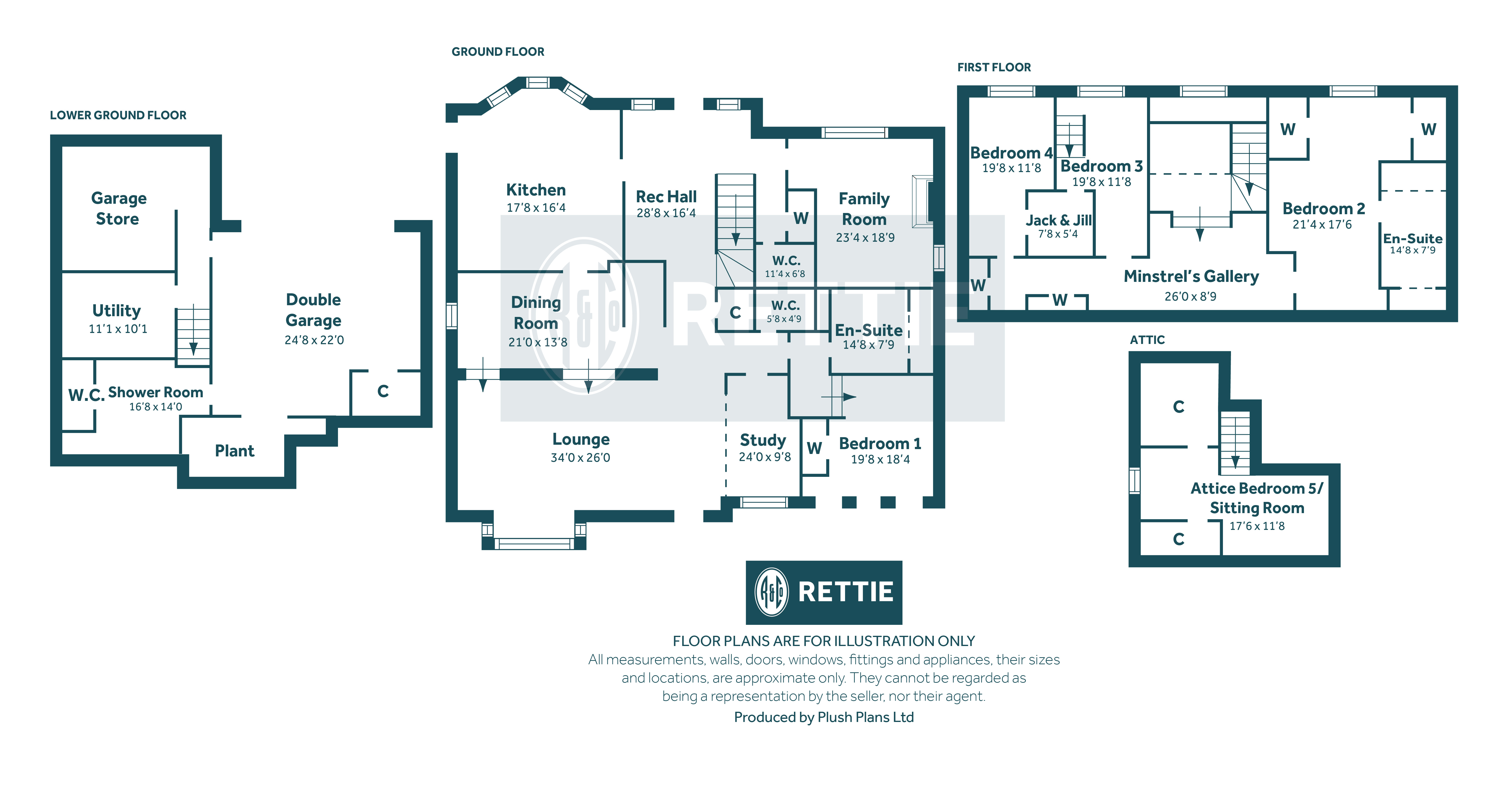 Floorplans for Broomcroft Road, Newton Mearns, Glasgow, G77