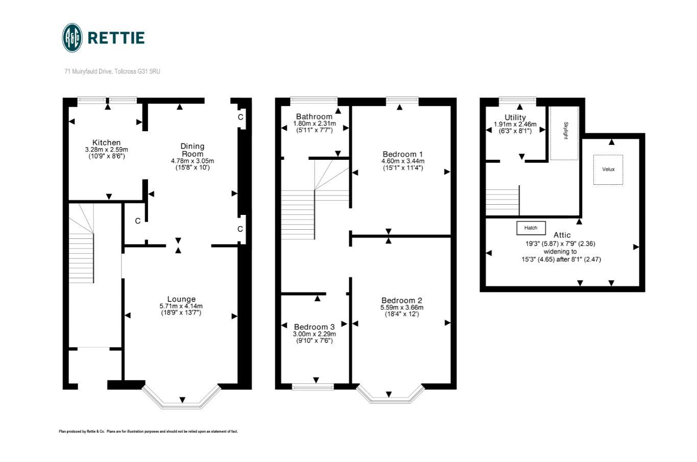 3 Bedroom House For Sale In Muiryfauld Drive Tollcross G31 Rettie Co