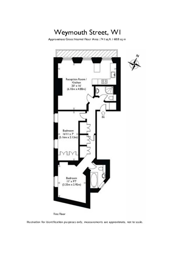 Floorplan for Weymouth Street, Marylebone, London, W1G