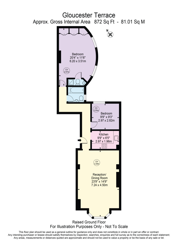 Floorplan for Gloucester Terrace, London, W2