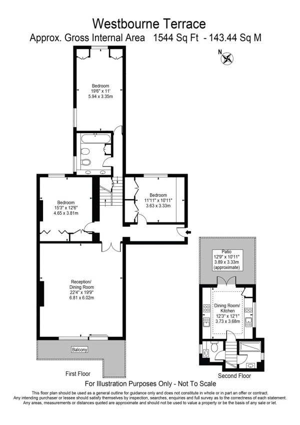 Floorplan for Westbourne Terrace, Paddington, London, W2
