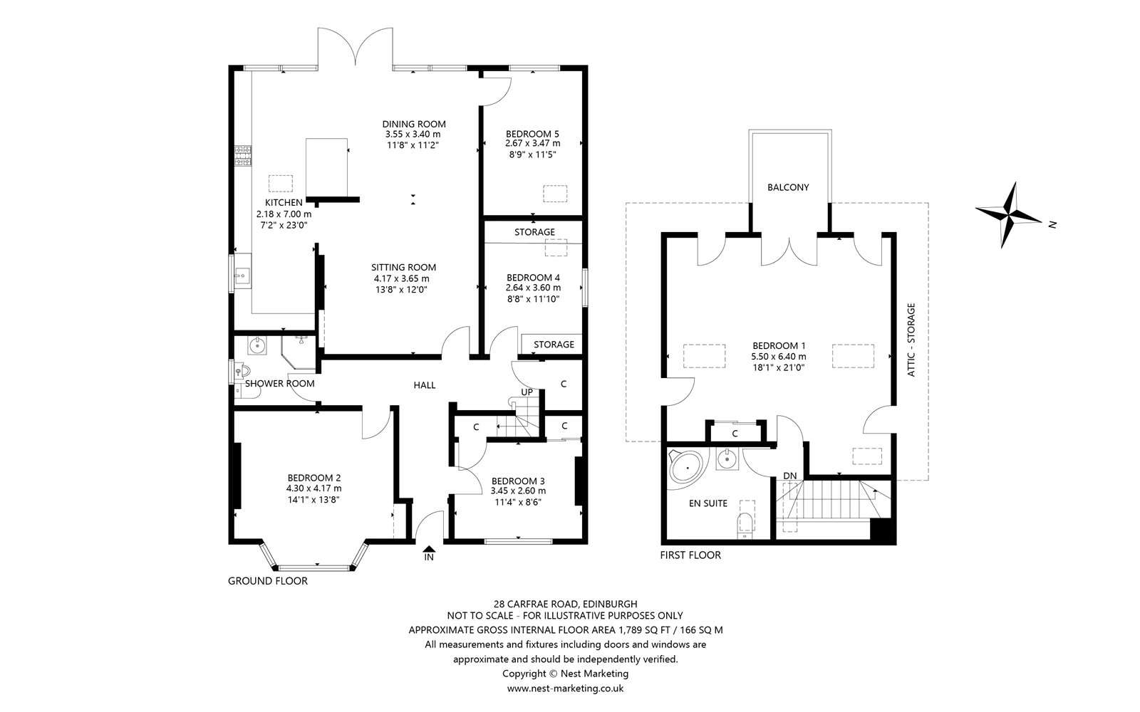 Floorplans for Carfrae Road, Edinburgh, EH4