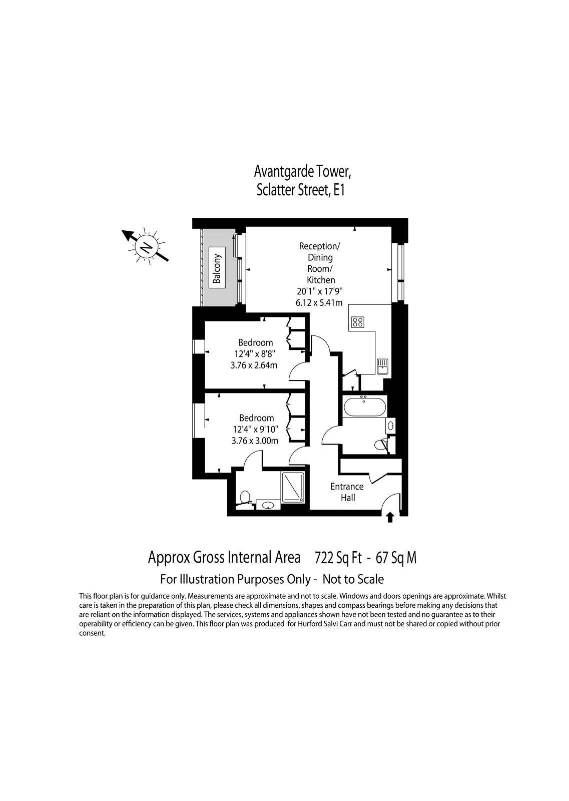 Avantgarde Tower, Sclatter Street, E1 floorplan