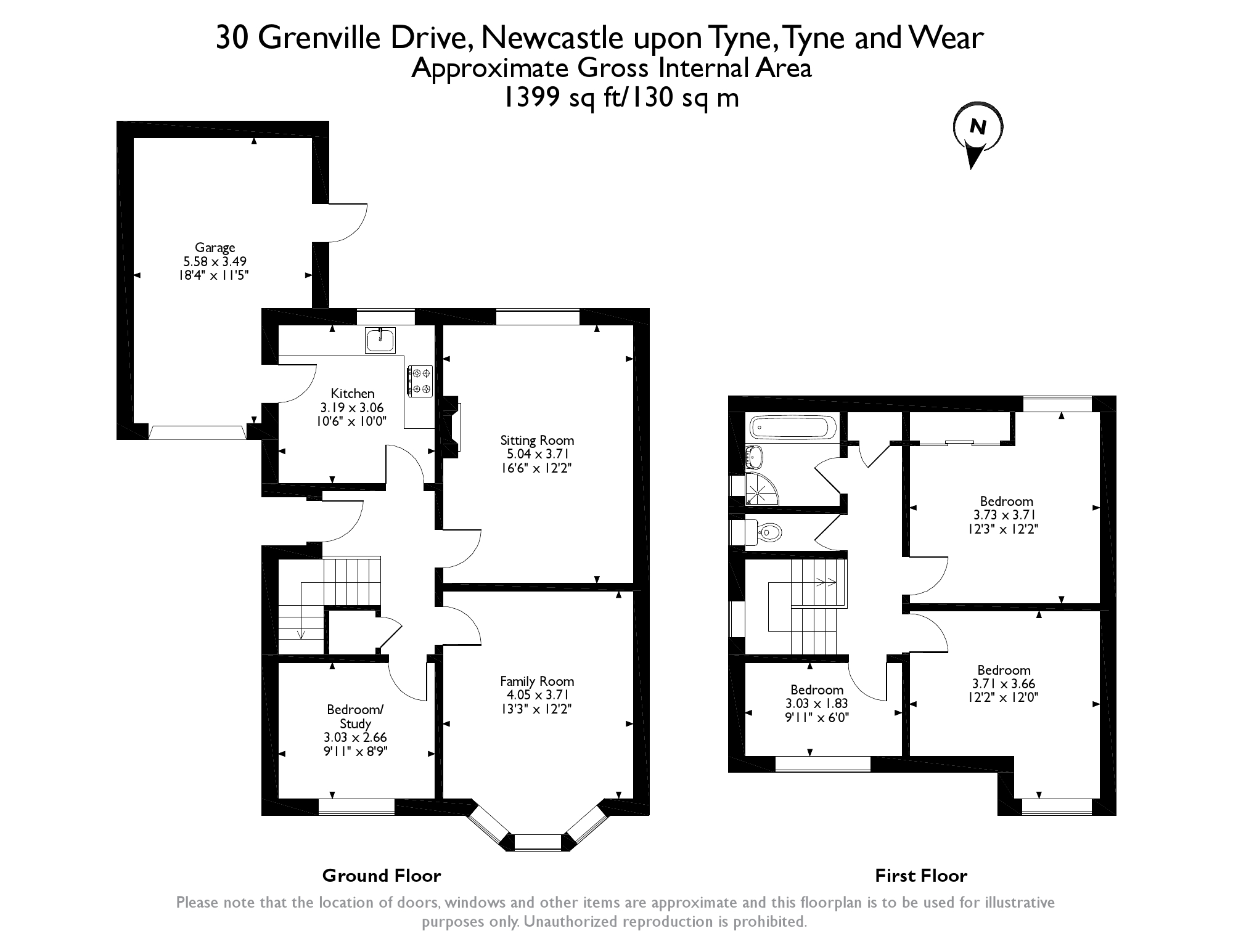Floorplans for Grenville Drive, Gosforth, Newcastle Upon Tyne, NE3