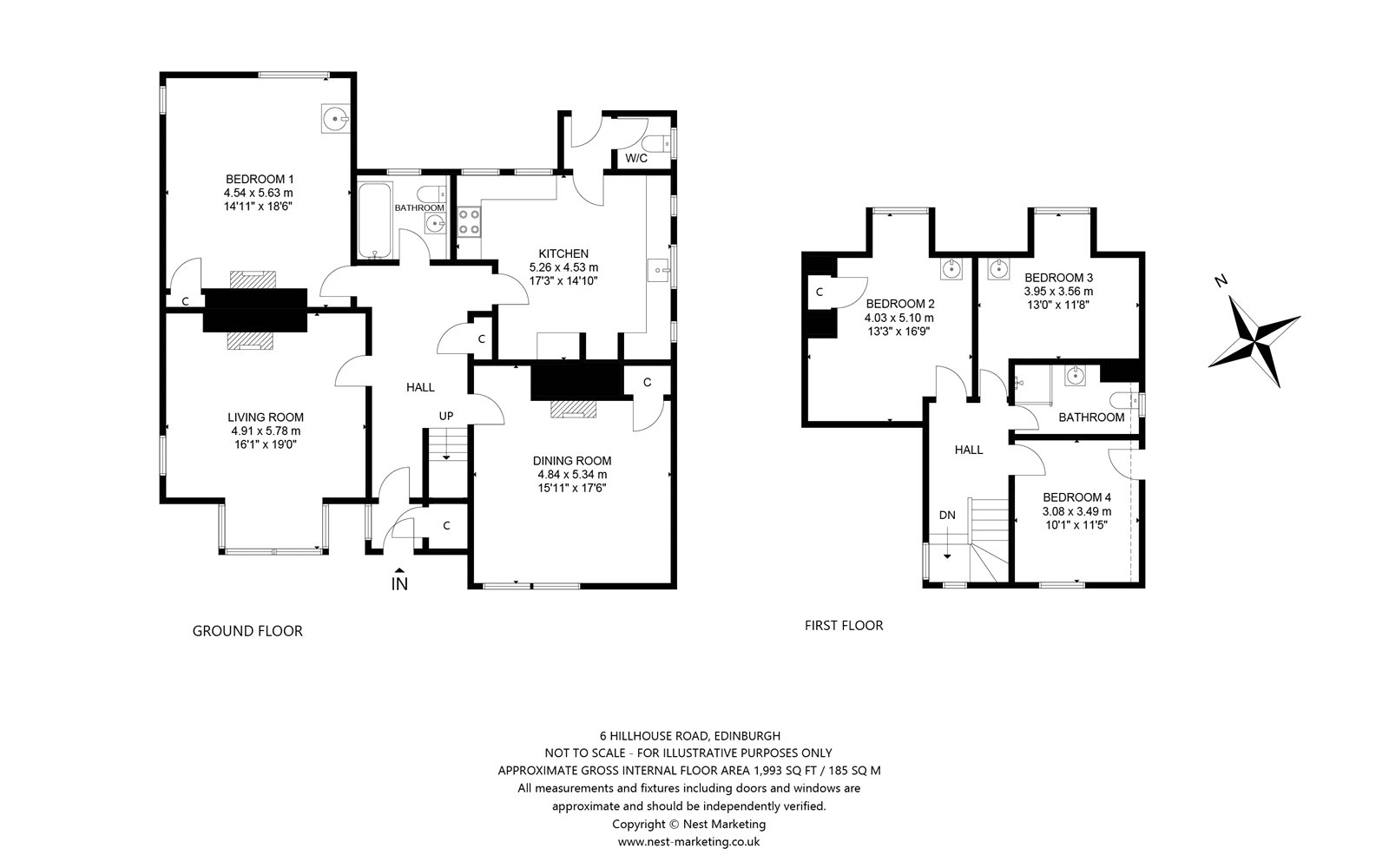 Floorplans for Hillhouse Road, Edinburgh, EH4