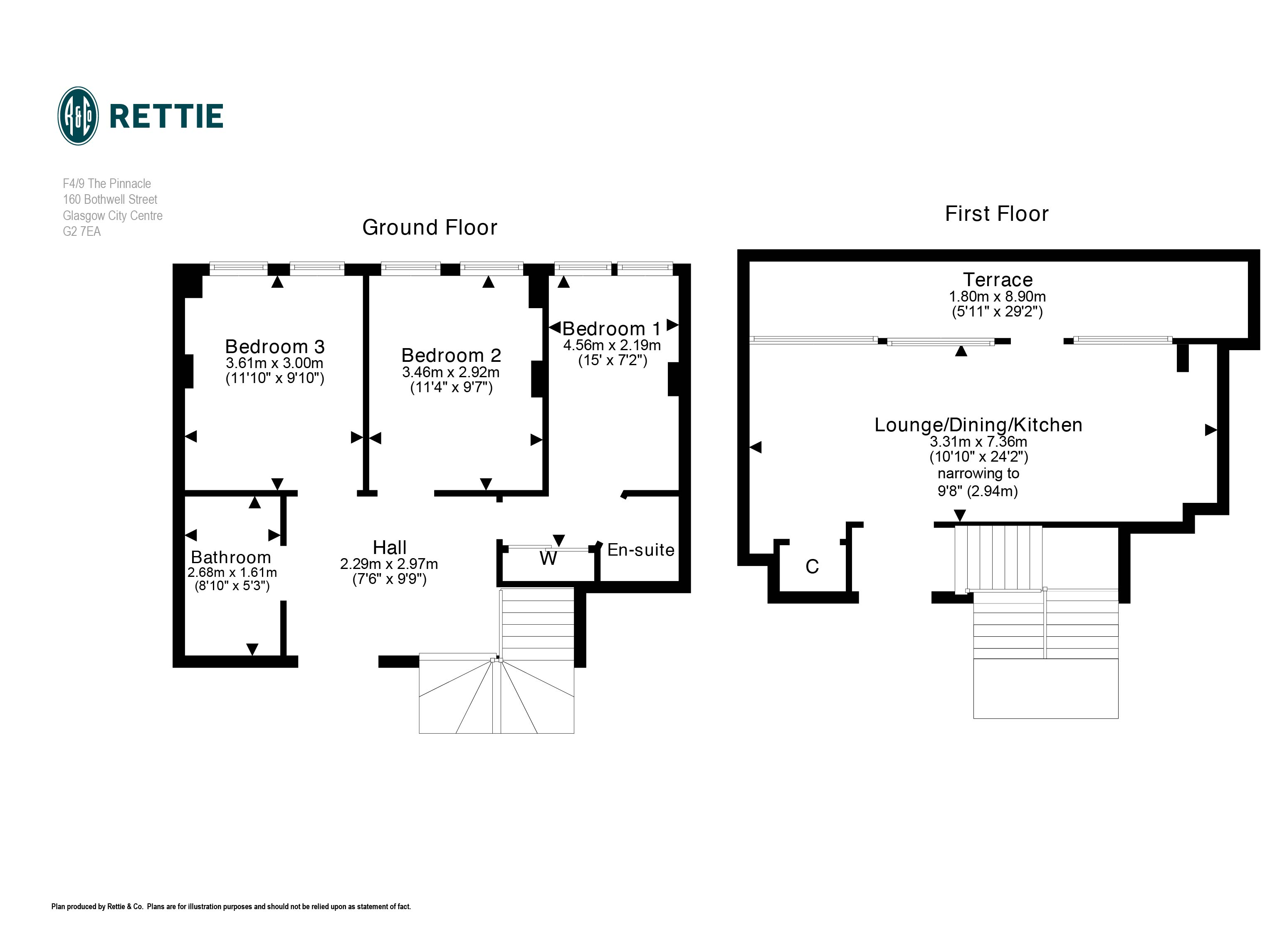 Floorplans for The Pinnacle, 160 Bothwell Street, Glasgow City Centre, G2