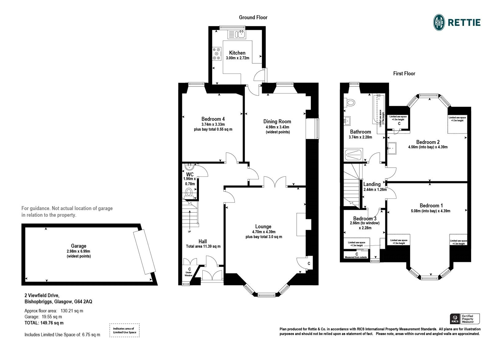 Floorplans for Viewfield Drive, Bishopbriggs, Glasgow, G64