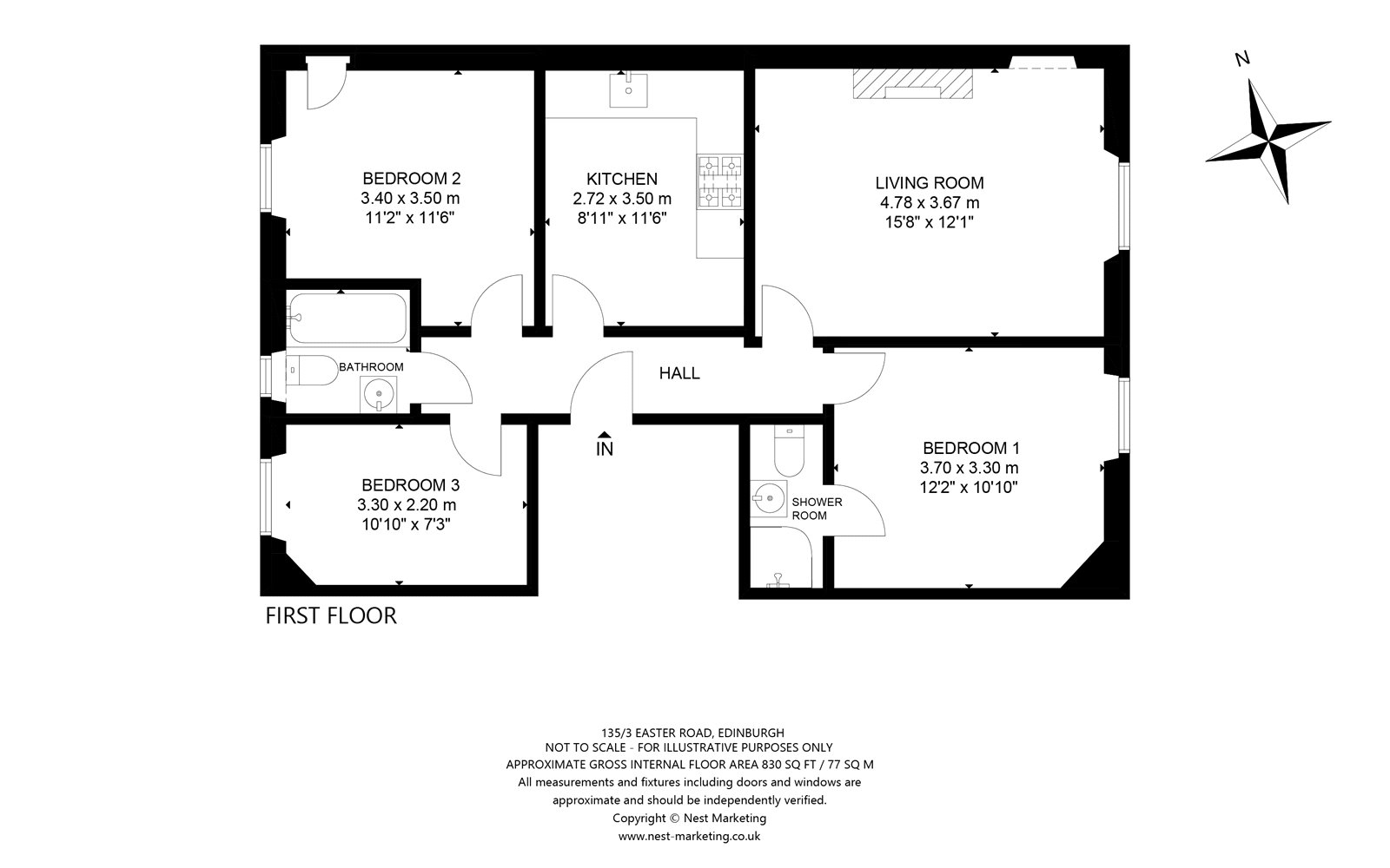 Floorplans for Easter Road, Edinburgh, EH7