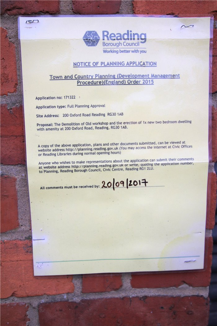 Reading borough council planning applications