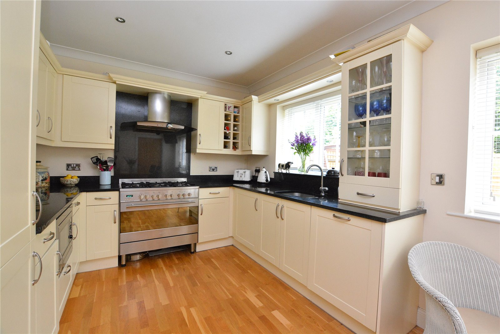 property for sale in Wtherby, kitchen area. beige cabinets