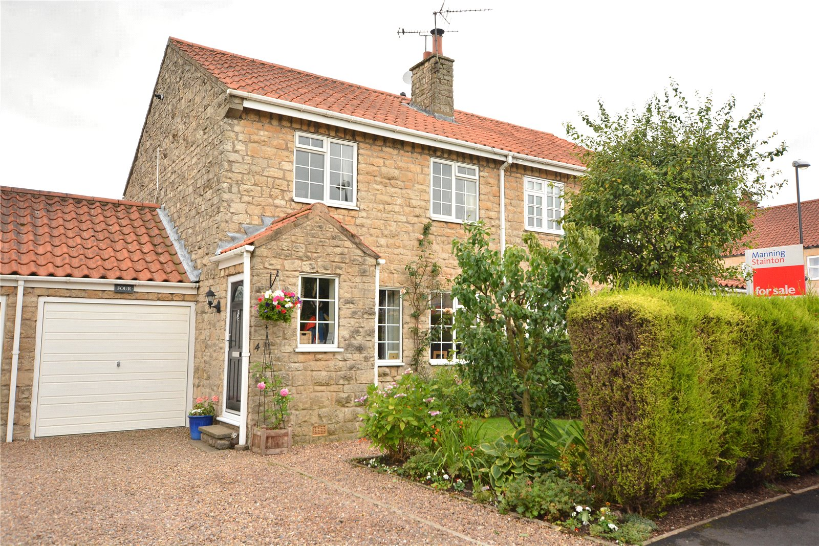 Property for sale in Wetherby, exterior semi detached stone house